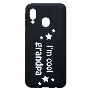 Phone case for Samsung A40 I'm cool grandpa