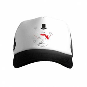 Kid's Trucker Hat I'm dreaming of a white Christmas