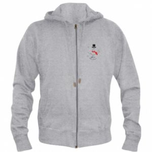 Men's zip up hoodie I'm dreaming of a white Christmas