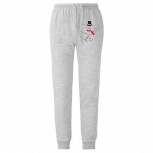 Męskie spodnie lekkie I'm dreaming of a white Christmas