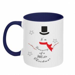 Two-toned mug I'm dreaming of a white Christmas