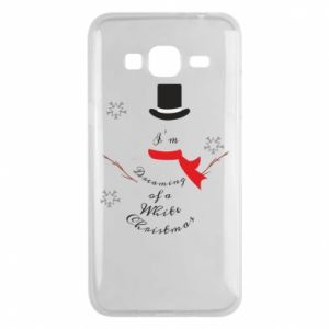 Phone case for Samsung J3 2016 I'm dreaming of a white Christmas