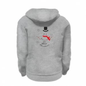 Kid's zipped hoodie % print% I'm dreaming of a white Christmas
