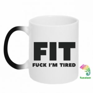 Chameleon mugs I'M FUCKING TIRED