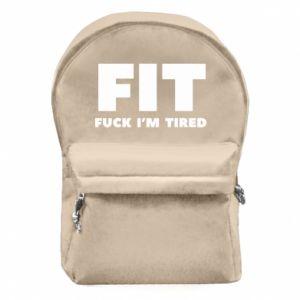 Plecak z przednią kieszenią I'M FUCKING TIRED