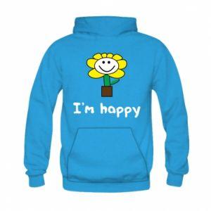 Kid's hoodie I'm happy