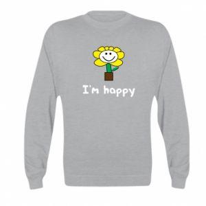 Kid's sweatshirt I'm happy