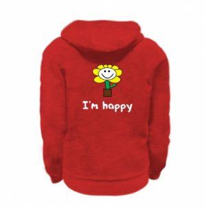 Kid's zipped hoodie % print% I'm happy
