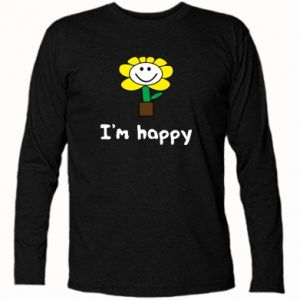 Koszulka z długim rękawem I'm happy