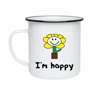 Enameled mug I'm happy