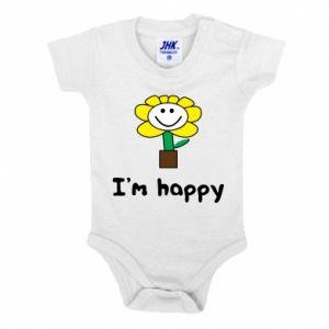Baby bodysuit I'm happy