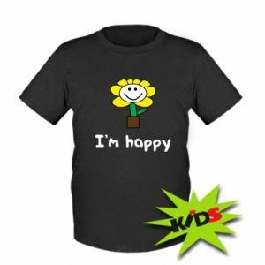 Kids T-shirt I'm happy
