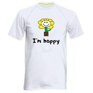 Men's sports t-shirt I'm happy
