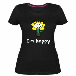Damska premium koszulka I'm happy