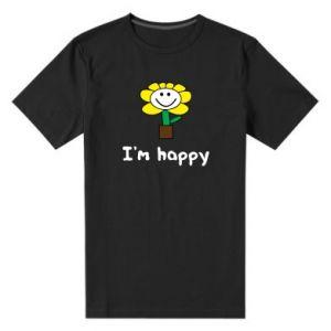 Męska premium koszulka I'm happy