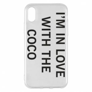 Etui na iPhone X/Xs I'm in love with the coco