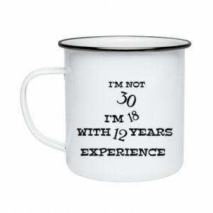 Enameled mug I'm not 30