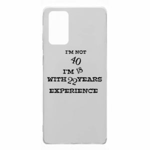 Samsung Note 20 Case I'm not 40