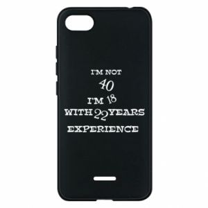 Phone case for Xiaomi Redmi 6A I'm not 40