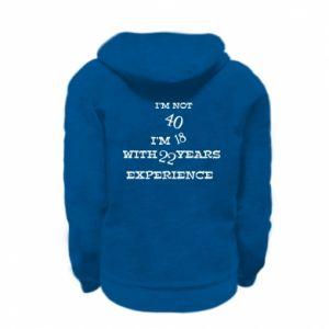 Kid's zipped hoodie % print% I'm not 40