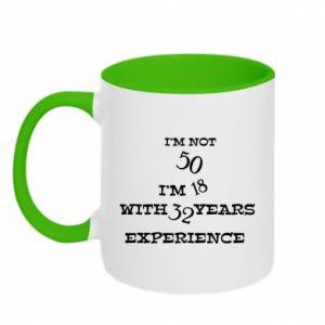 Two-toned mug I'm not 50