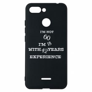 Phone case for Xiaomi Redmi 6 I'm not 60