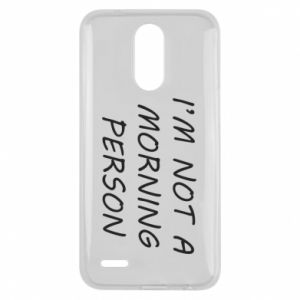 Etui na Lg K10 2017 I'm not a morning person