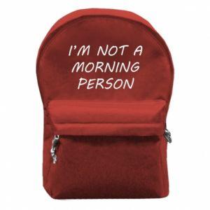 Plecak z przednią kieszenią I'm not a morning person