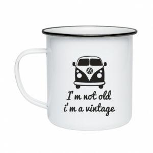 Kubek emaliowane I'm not old i'm a vintage