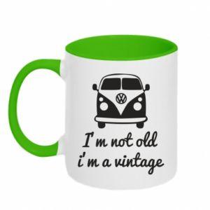 Two-toned mug I'm not old i'm a vintage
