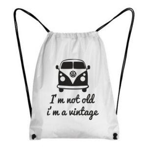 Plecak-worek I'm not old i'm a vintage