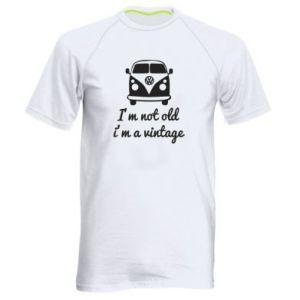 Męska koszulka sportowa I'm not old i'm a vintage
