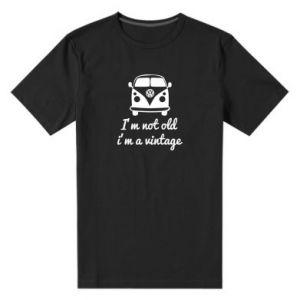 Męska premium koszulka I'm not old i'm a vintage
