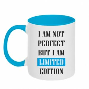 Two-toned mug I'm not perfect but i am limited edition