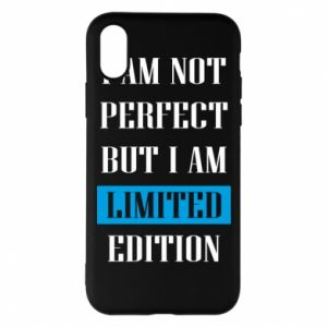 Etui na iPhone X/Xs I'm not perfect but i am limited edition