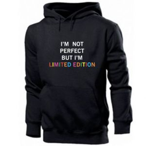 Męska bluza z kapturem I'm  not perfect but I'm limited edition