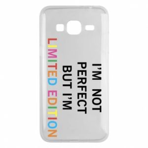 Etui na Samsung J3 2016 I'm  not perfect but I'm limited edition