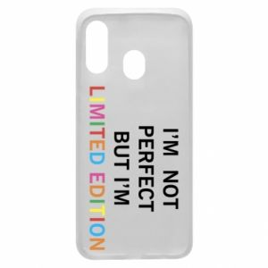 Etui na Samsung A40 I'm  not perfect but I'm limited edition