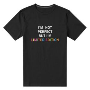 Męska premium koszulka I'm  not perfect but I'm limited edition