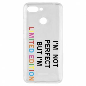 Etui na Xiaomi Redmi 6 I'm  not perfect but I'm limited edition