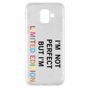 Etui na Samsung A6 2018 I'm  not perfect but I'm limited edition
