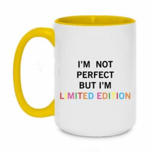 Kubek dwukolorowy 450ml I'm  not perfect but I'm limited edition