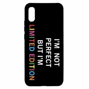Xiaomi Redmi 9a Case I'm  not perfect but I'm limited edition