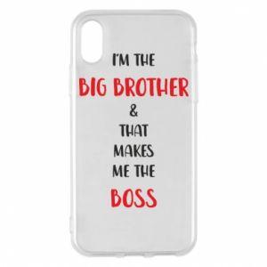 Etui na iPhone X/Xs I'm the big brother