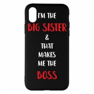 Etui na iPhone X/Xs I'm the big sister