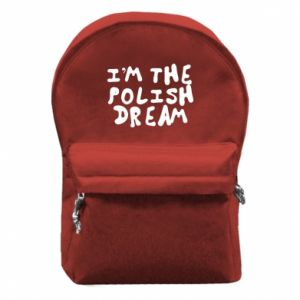 Backpack with front pocket I'm the Polish dream