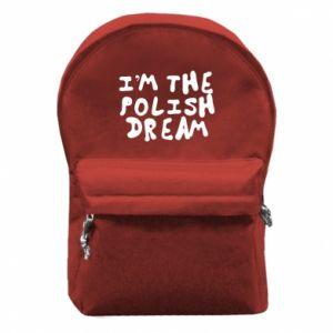 Plecak z przednią kieszenią I'm the Polish dream