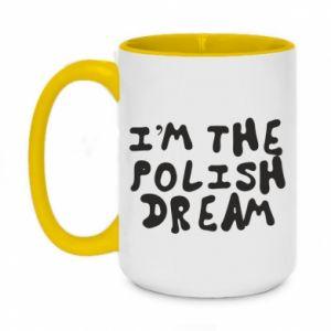 Two-toned mug 450ml I'm the Polish dream