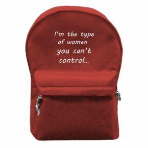 Plecak z przednią kieszenią I'm the type