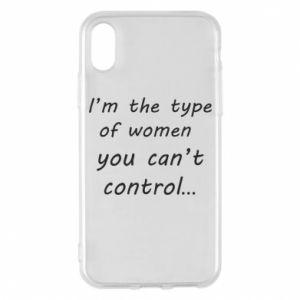 Etui na iPhone X/Xs I'm the type